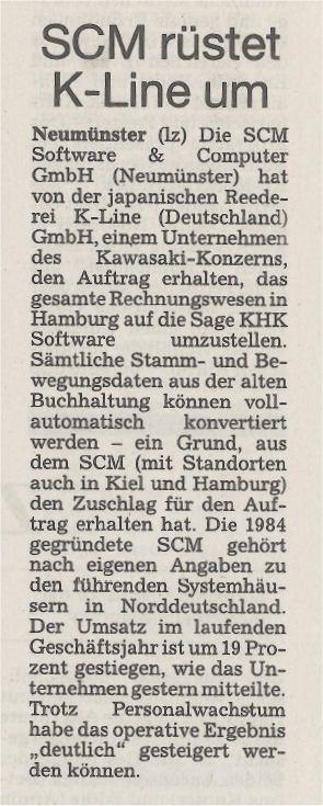 Kieler Nachrichten vom 12. Dezember 2001